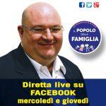 Nella foto Luigi Mercogliano e la promo di #VersoSud, trasmissione in oda dal suo profilo Facebook tutti i mercoledì e giovedì dalle 20,00 all'interno della programmazione del Popolo della Famiglia Tv